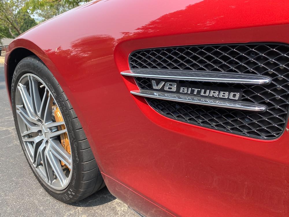2020 Mercedes-AMG GT C front wheel, badging
