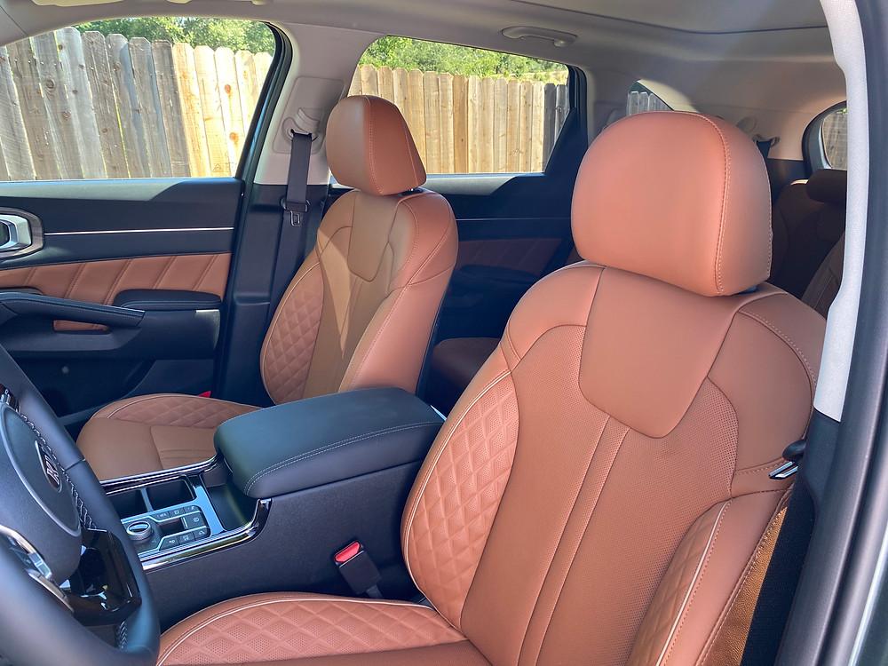 2021 Kia Sorento X-Line AWD front seat detail