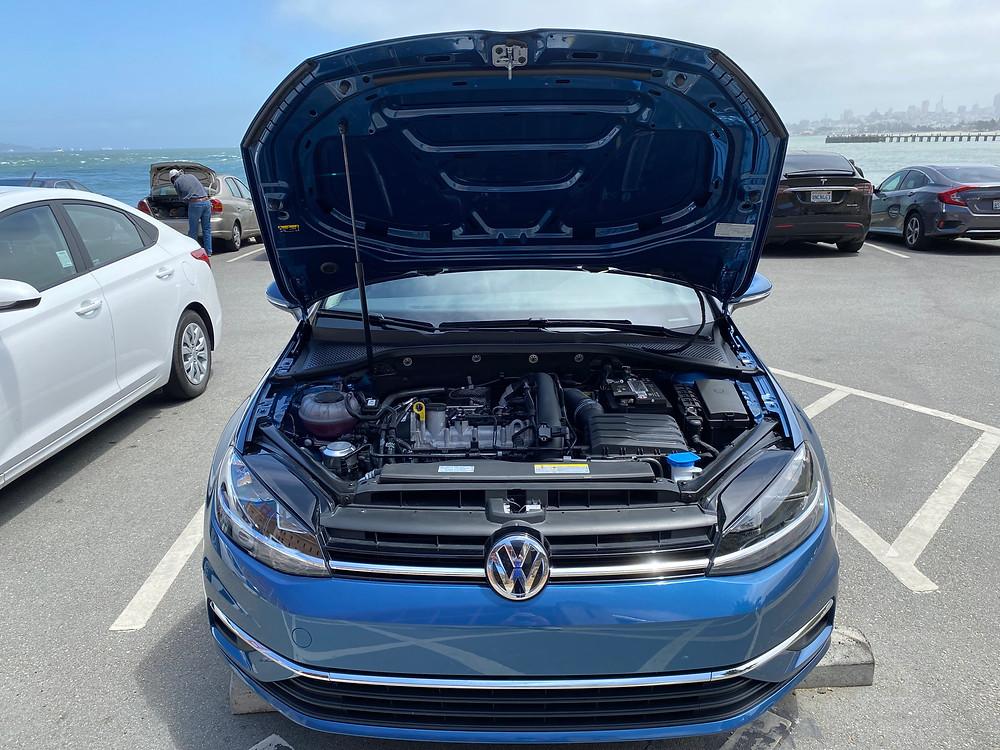 2021 Volkswagen Golf TSI hood up