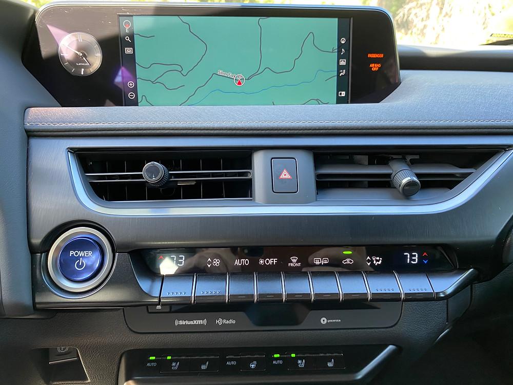 2020 Lexus UX 250h navigation, infortainment and HVAC