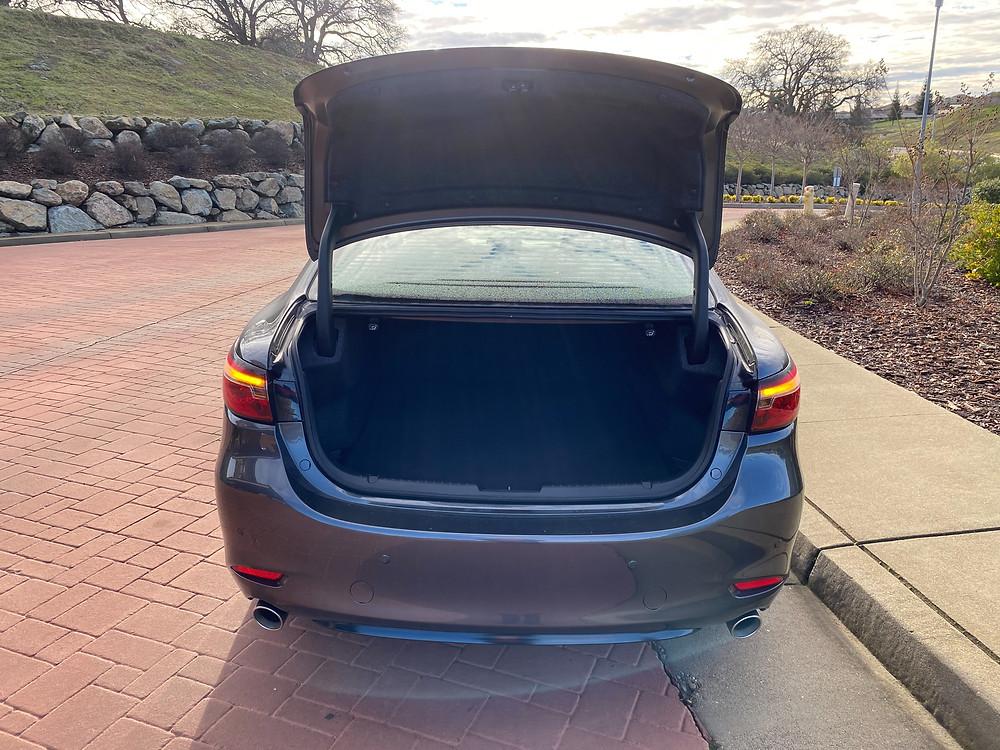 2021 Mazda 6 Signature trunk open