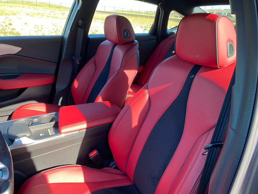2021 Acura TLX SH-AWD A-Spec front seat detail