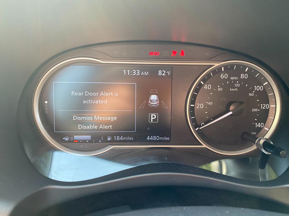 2020 Nissan Kicks SR gauge cluster