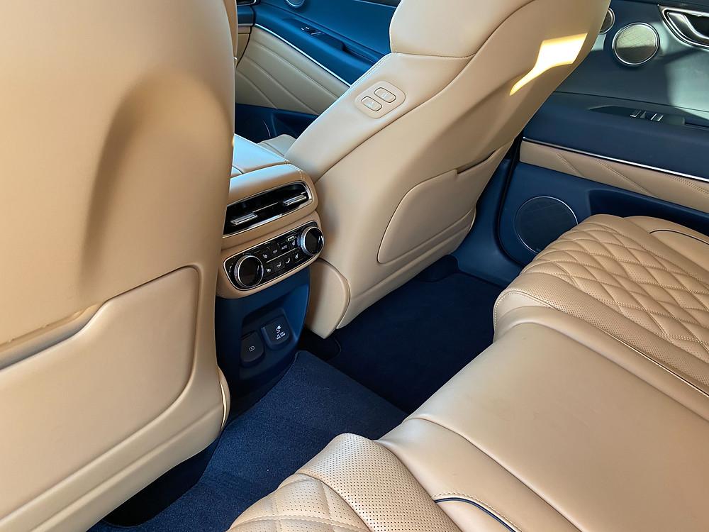 2021 Genesis GV80 rear seat HVAC