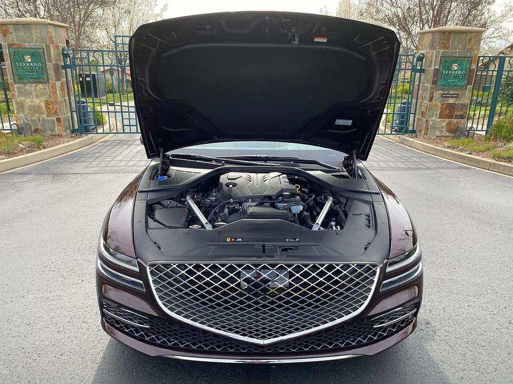 2021 Genesis G80 2.5T Standard hood up