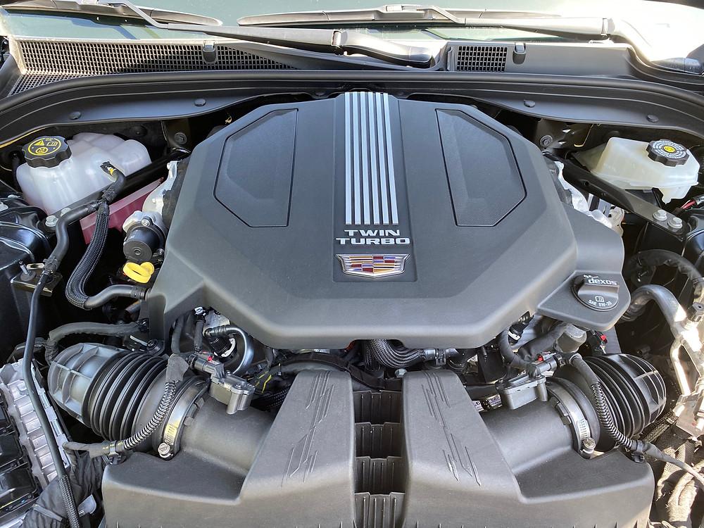 2021 Cadillac CT5 Premium Luxury engine close