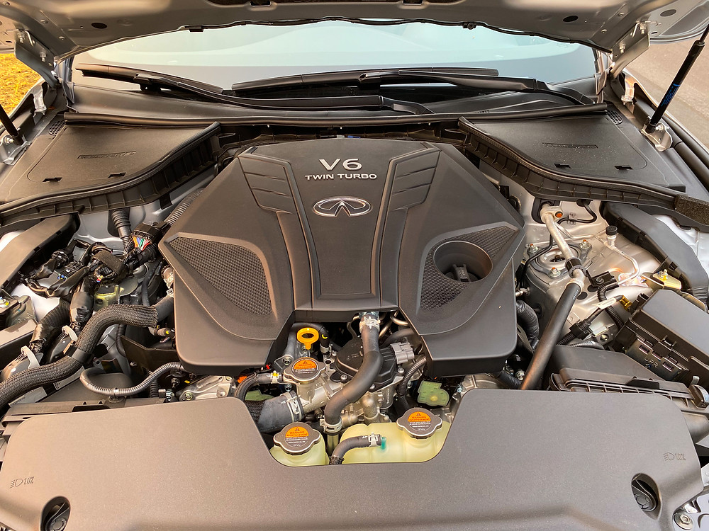 2020 Infiniti Q60 Red Sport 400 AWD engine