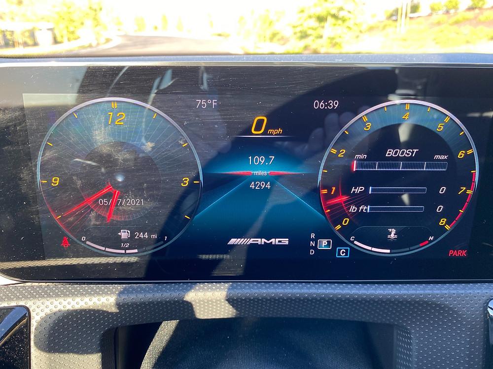 2021 Mercedes-AMG A35 4MATIC gauge cluster