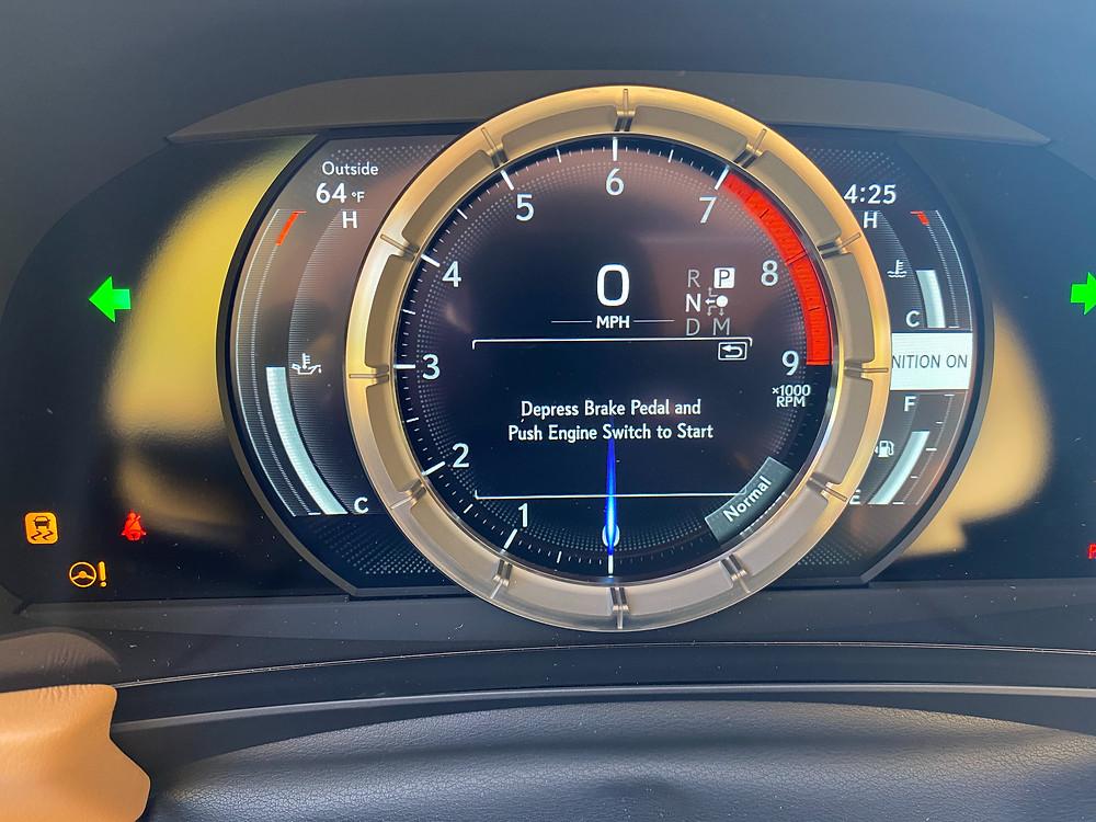 2021 Lexus LC 500 Convertible gauge cluster