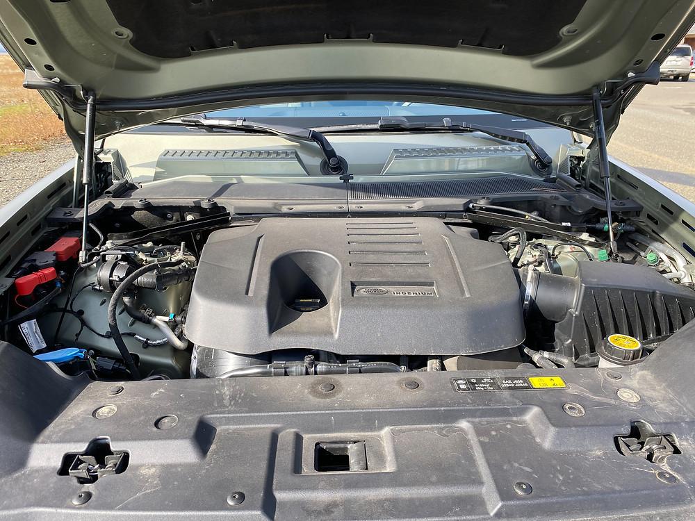2020 Land Rover Defender 110 SE engine