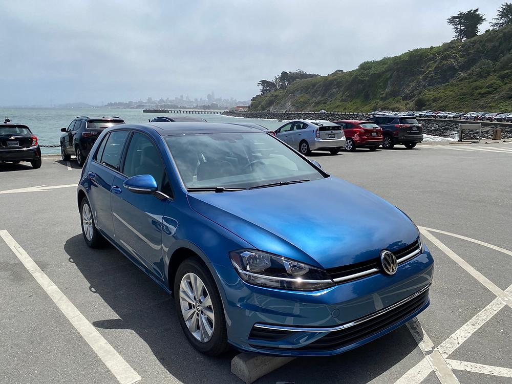 2021 Volkswagen Golf TSI front 3/4 view