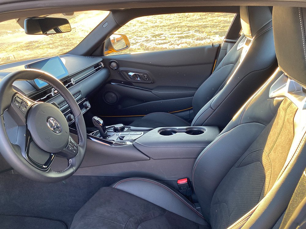 2021 Toyota GR Supra 2.0 front seats
