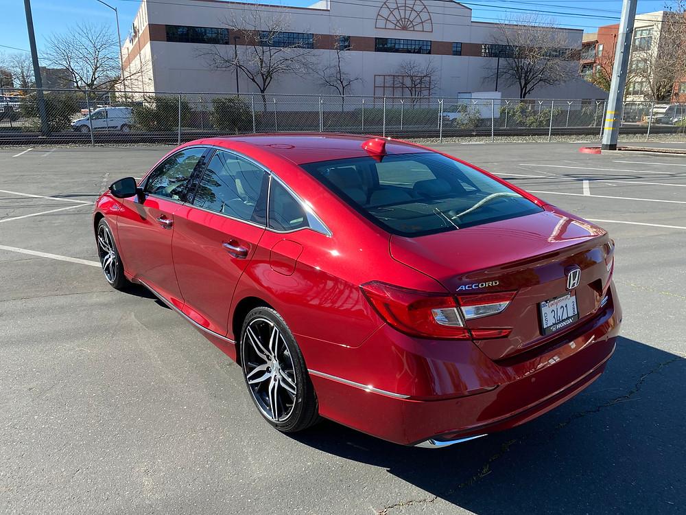 2021 Honda Accord Hybrid Touring rear 3/4 view