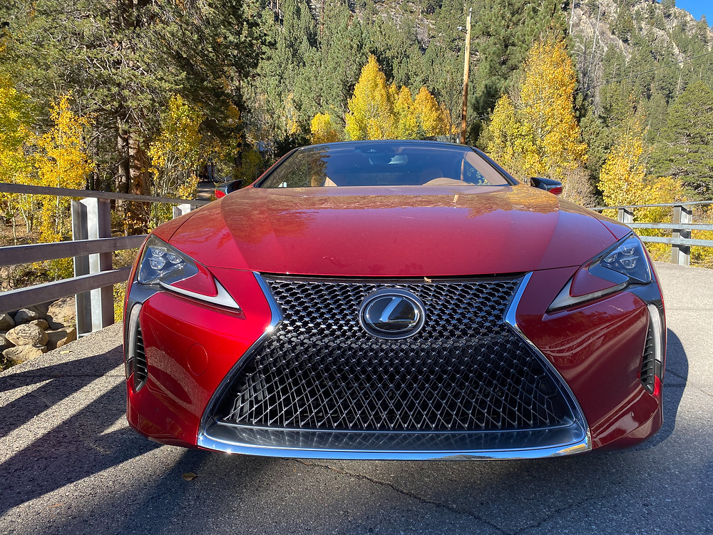 2021 Lexus LC 500 Convertible top up front view