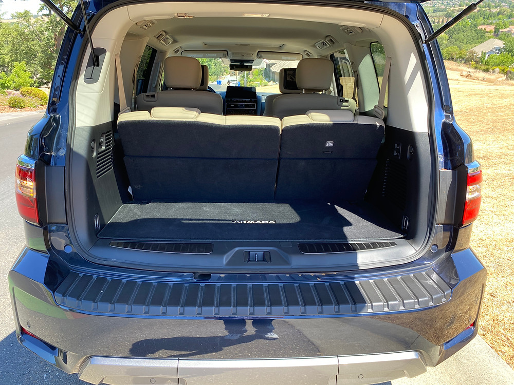 2021 Nissan Armada Platinum 4WD cargo area