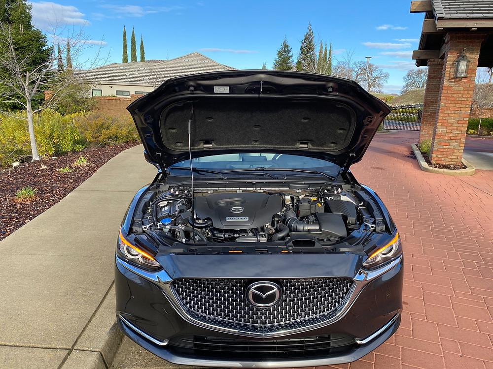 2021 Mazda 6 Signature hood up