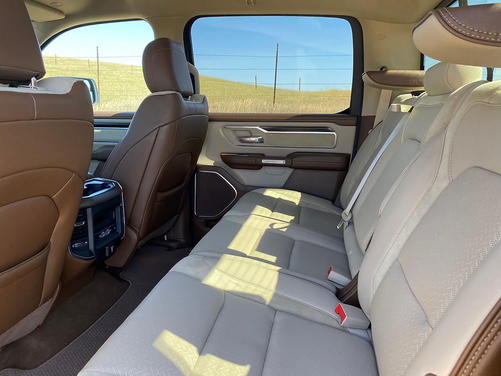 2021 RAM 1500 Laramie Crew Cab 4X4 rear seat