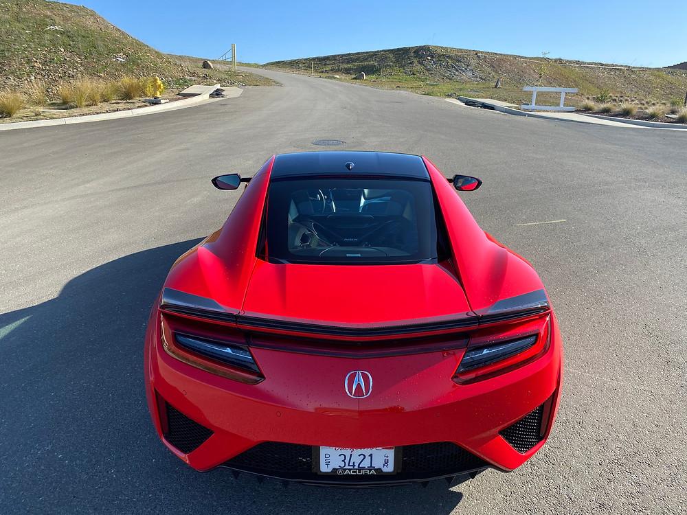 2020 Acura NSX rear view