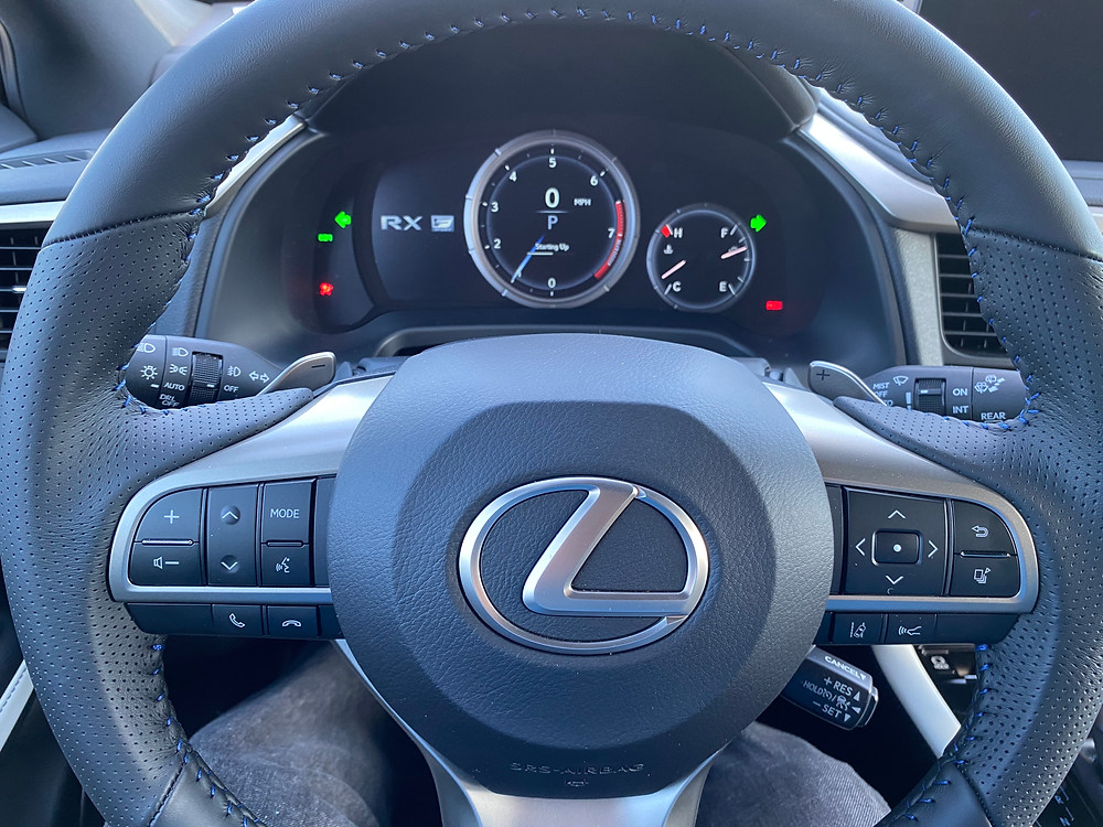 2021 Lexus RX 350 F SPORT Black Line instrument panel