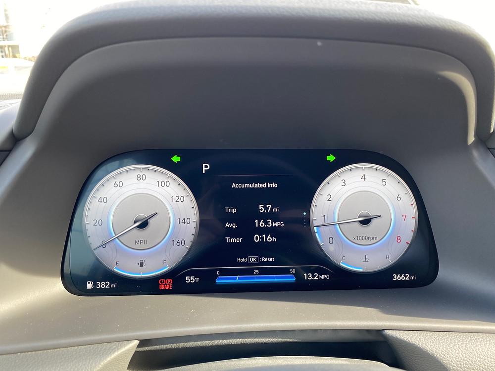 2021 Hyundai Sonata N-Line gauge cluster