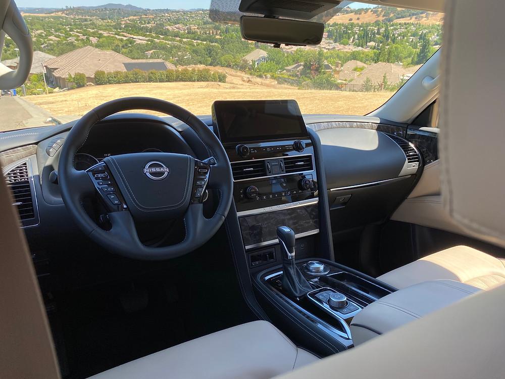 2021 Nissan Armada Platinum AWD instrument panel