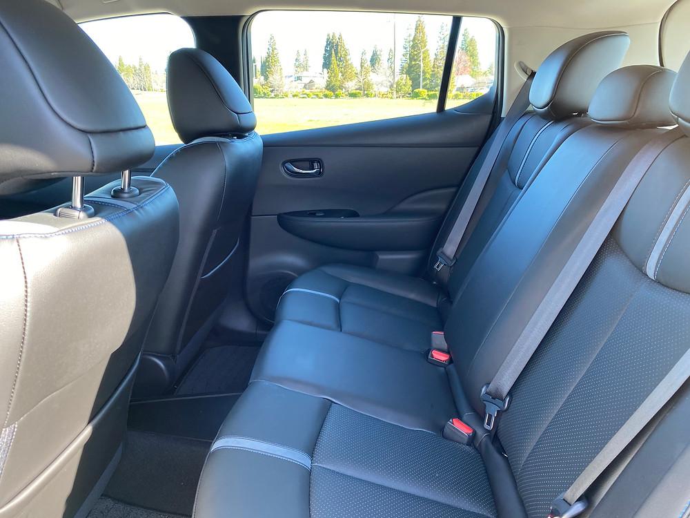 2021 Nissan Leaf SL Plus rear seat