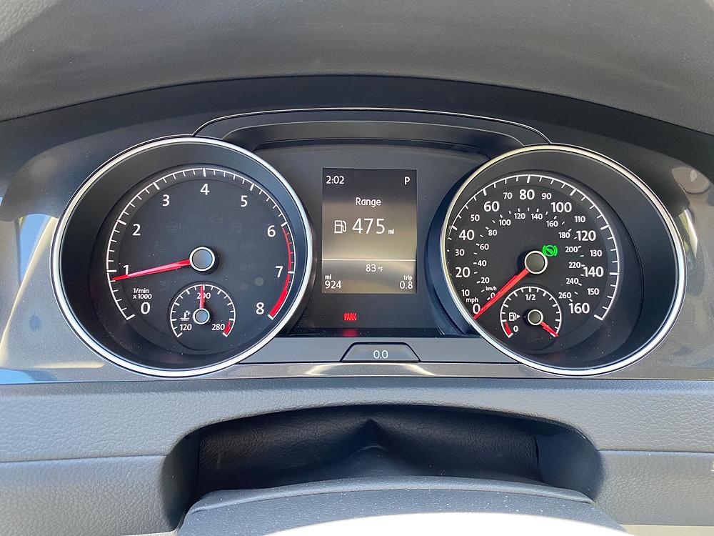 2021 Volkswagen Golf TSI gauge cluster