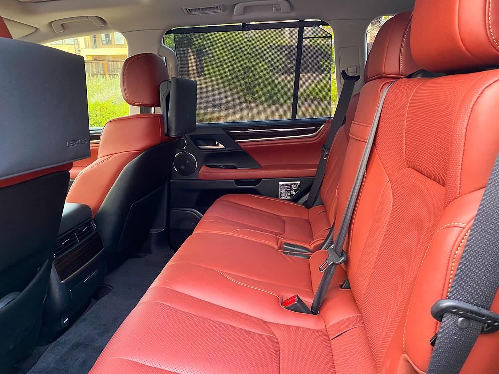 2020 Lexus LX570 rear seats
