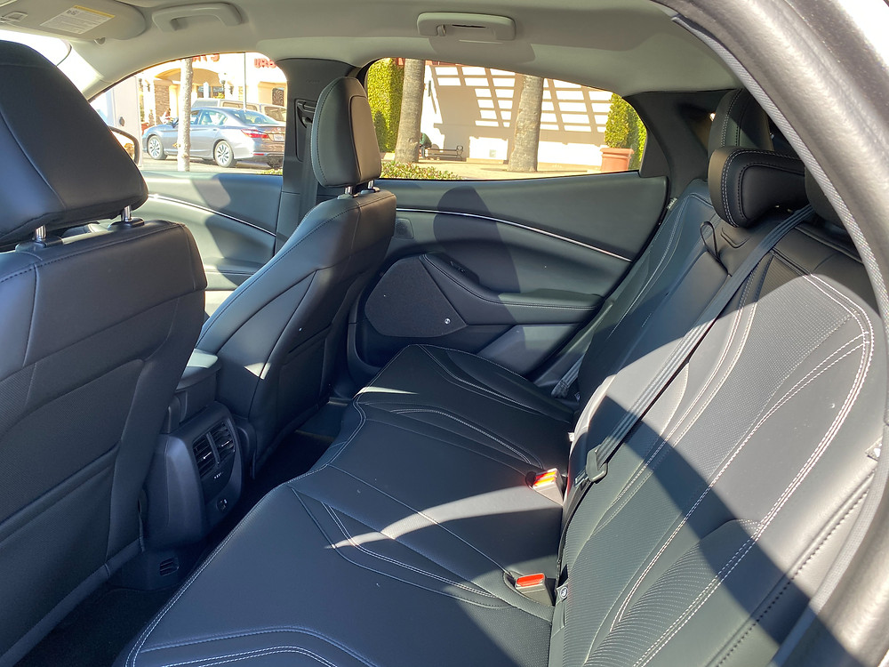 2021 Ford Mustang Mach-E rear seat
