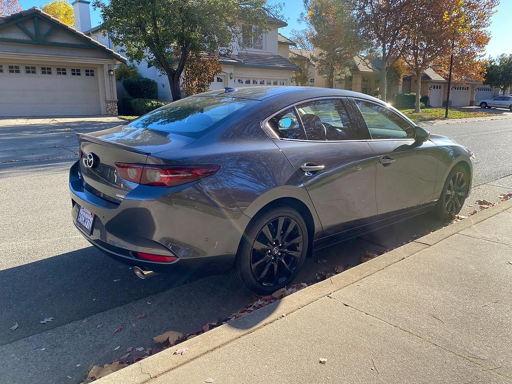 2021 Mazda 3 2.5 Turbo AWD rear 3/4 view