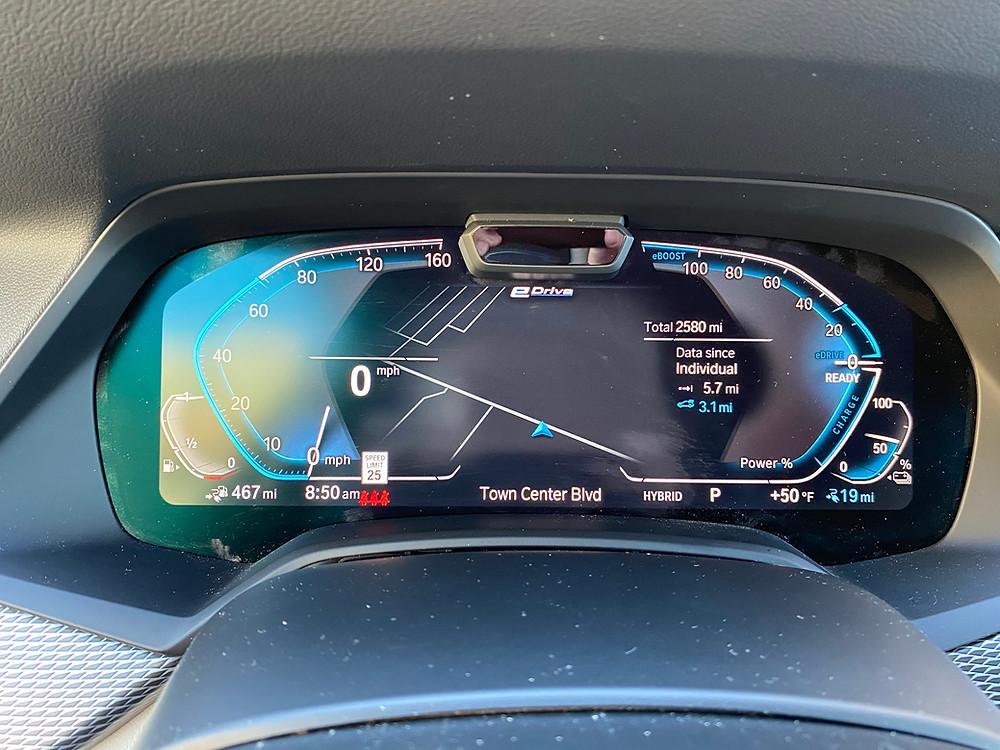 2021 BMW X5 xDrive45e gauge cluster