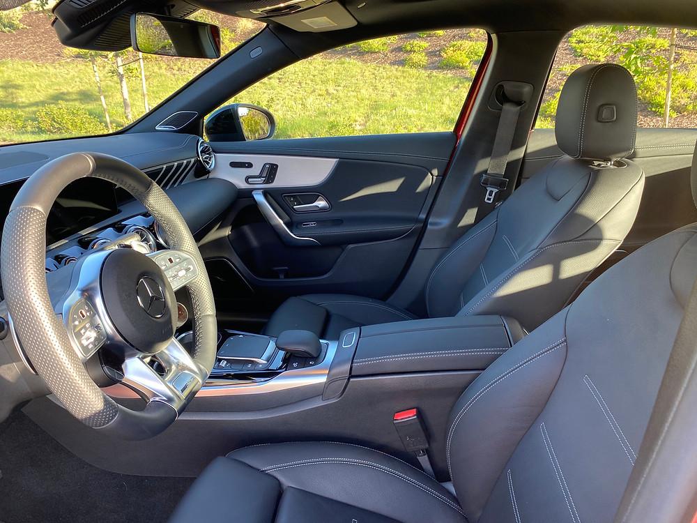 2021 Mercedes-AMG A35 4MATIC front seats