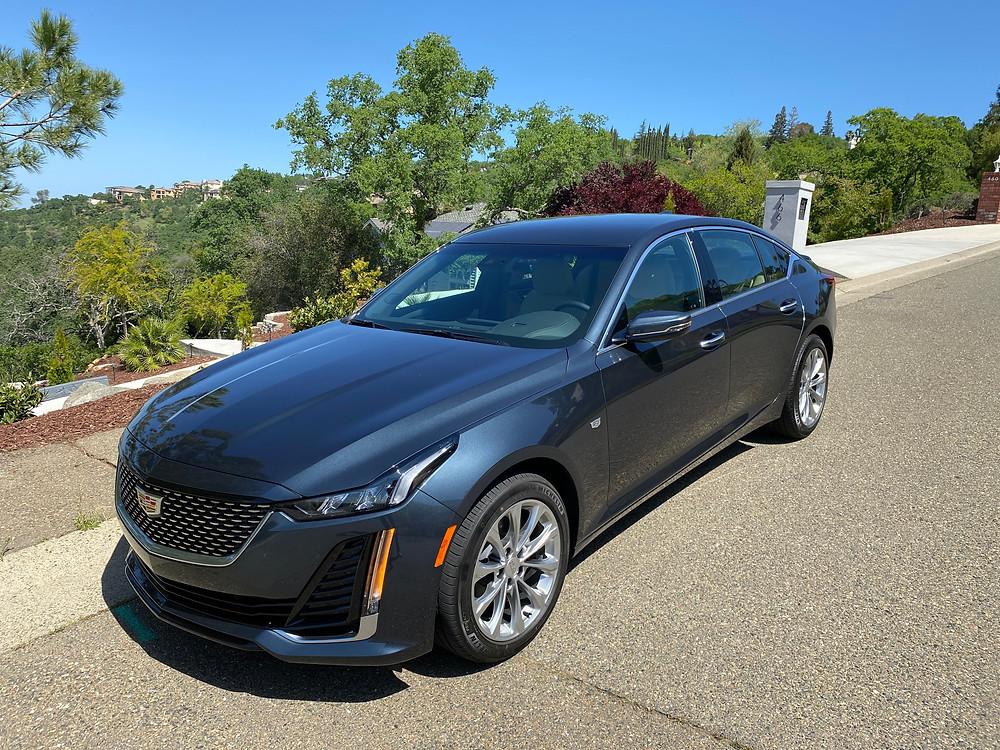 2021 Cadillac CT5 Premium Luxury Sedan front 3/4 view