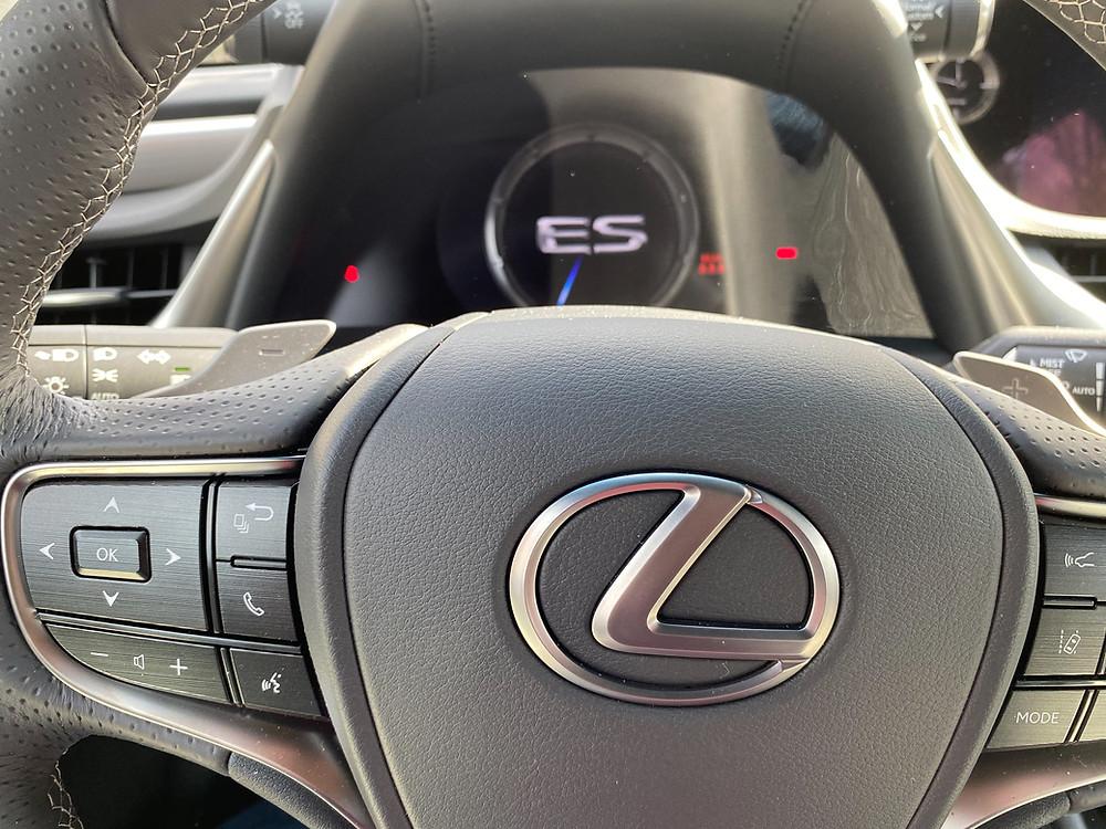 2021 Lexus ES350 F SPORT steering wheel and gauge cluster
