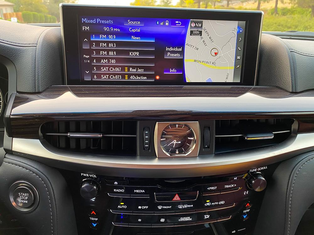 2020 Lexus LX570 infotainment and HVAC