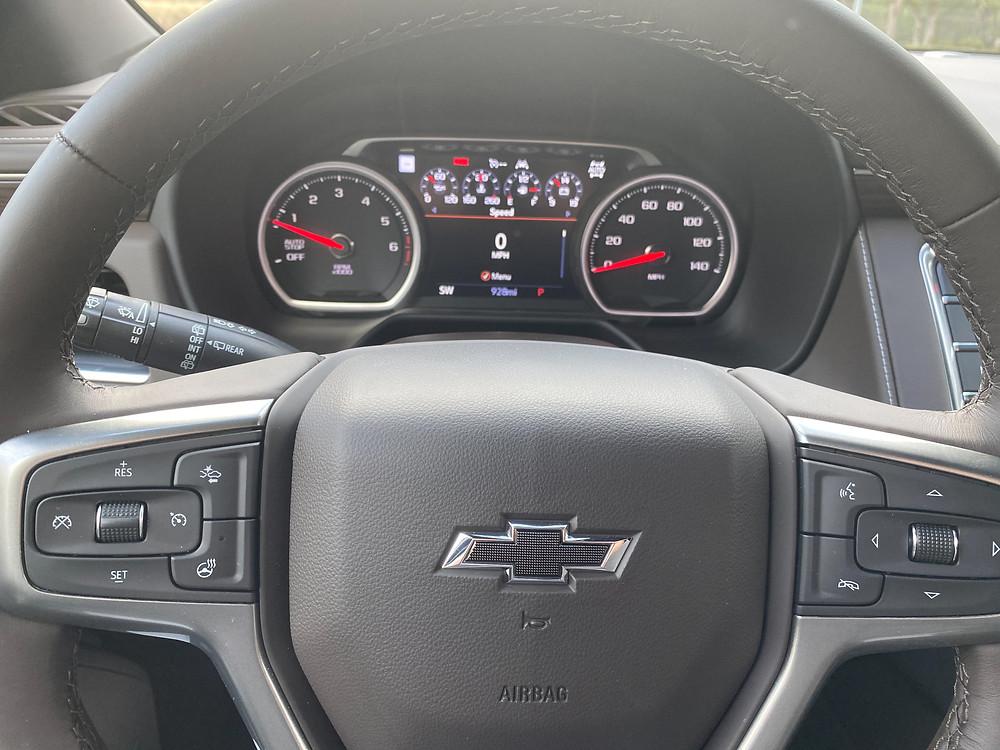 2021 Chevrolet Tahoe 4WD Z71 steering wheel and gauge cluster