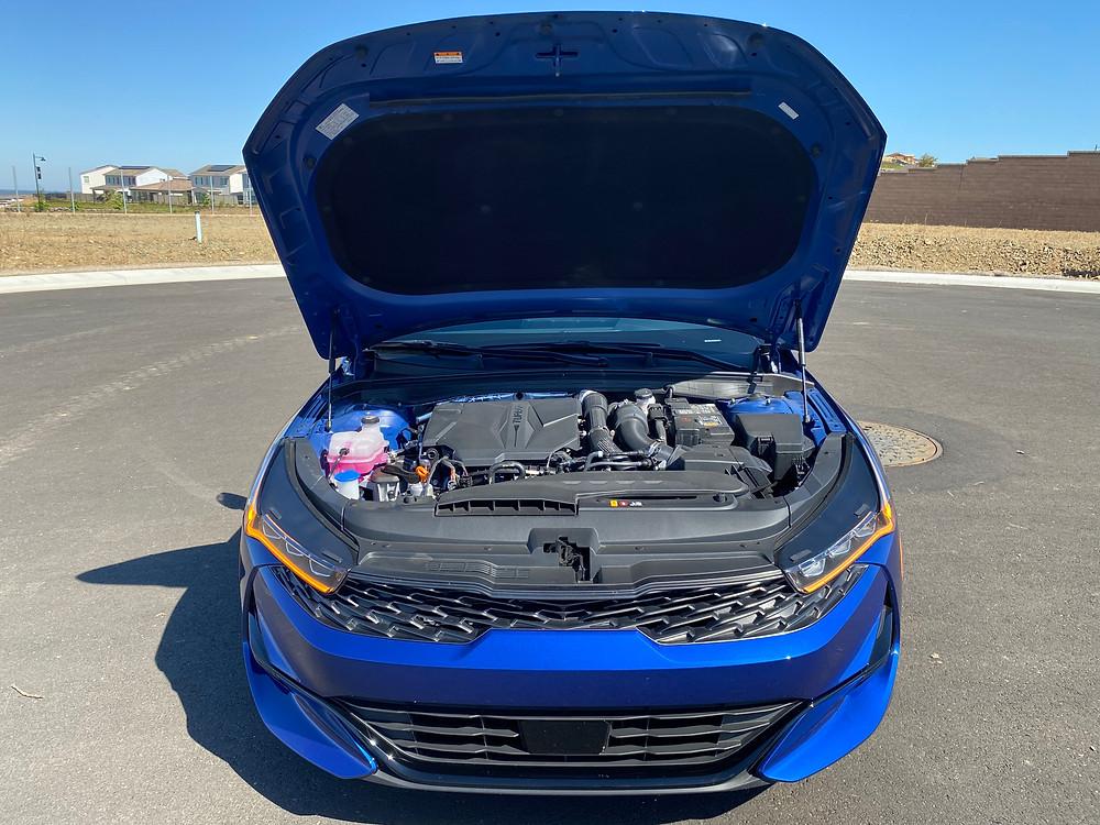2021 Kia K5 GT hood up