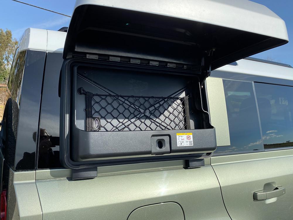 2020 Land Rover Defender 110 SE lockbox detail