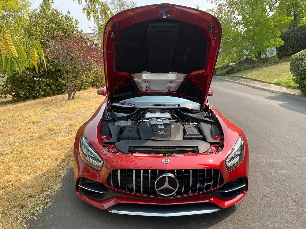 2020 Mercedes-AMG GT C hood open