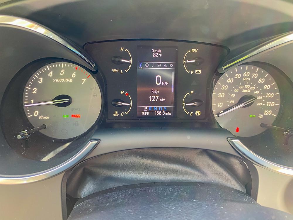 2020 Toyota Sequoia TRD PRO gauge cluster
