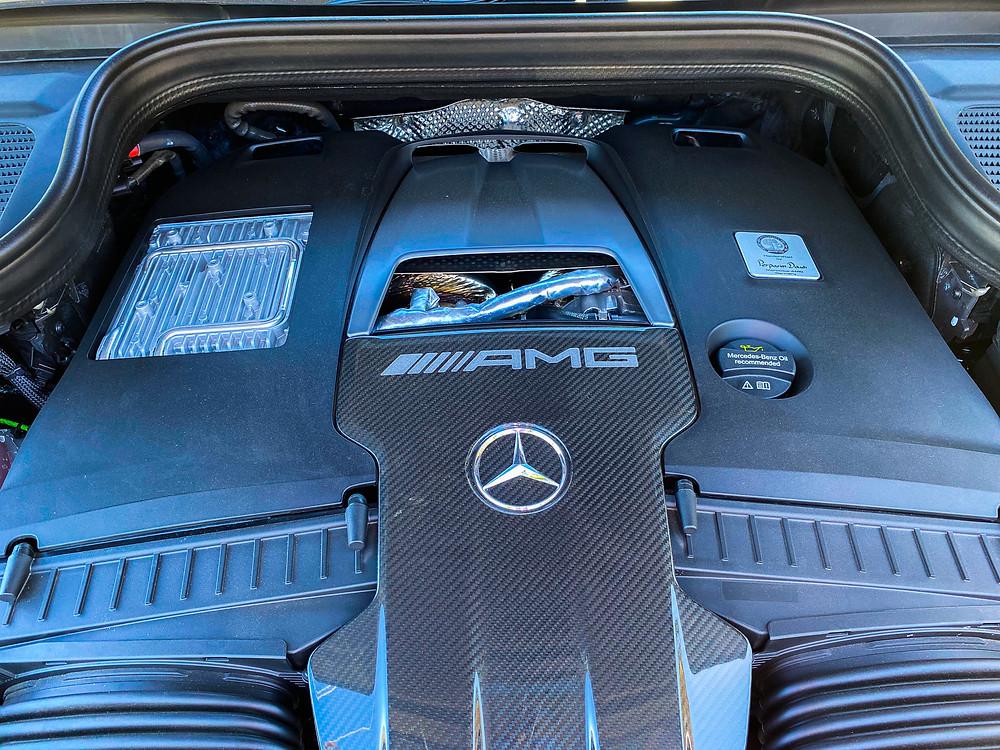 2021 Mercedes-AMG GLS 63 engine detail