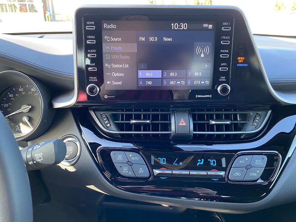 2021 Toyota C-HR Nightshade Edition infotainment and HVAC