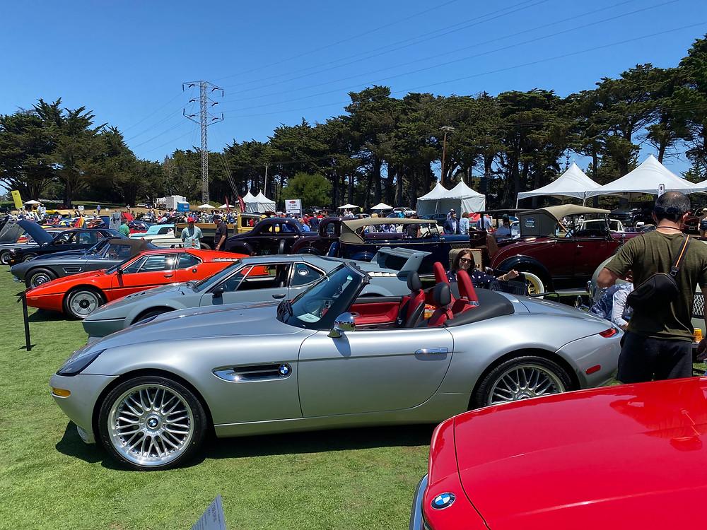 BMWs on display