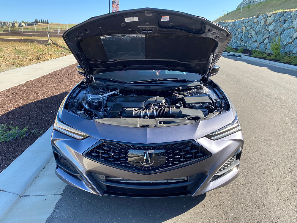 2021 Acura TLX SH-AWD A-Spec hood up