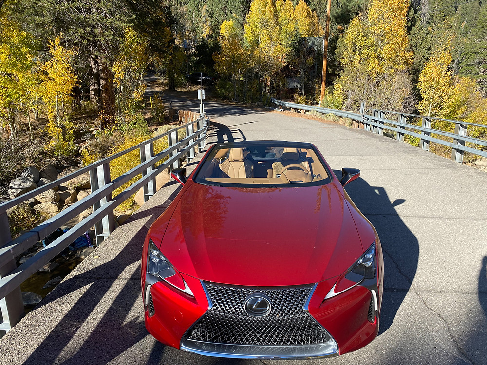 2021 Lexus LC 500 Convertible top down front view