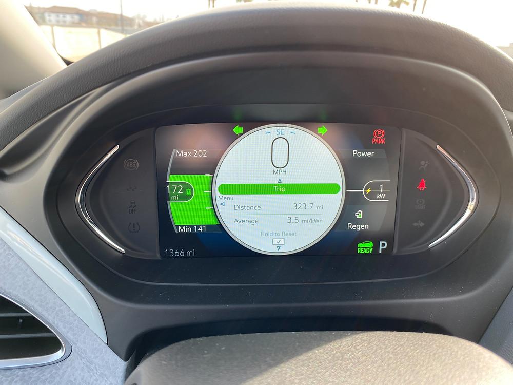 2020 Chevrolet Bolt EV Premier gauge cluster
