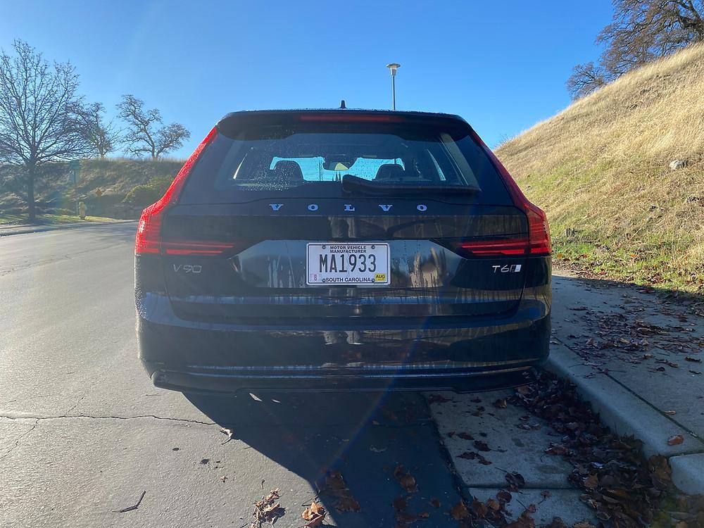 2021 Volvo V90 T6 AWD R-Design rear view