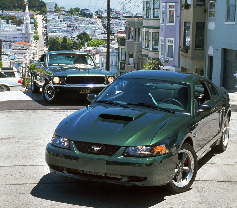 2002 Ford Mustang BULLITT with 1968 BULLITT replica
