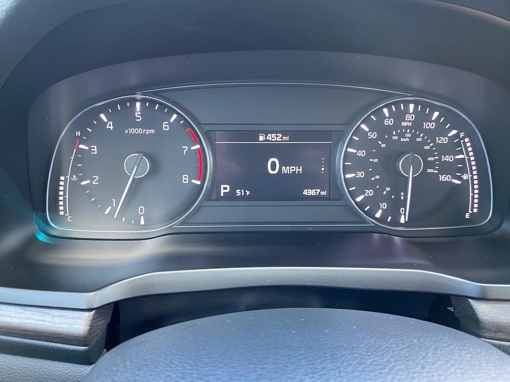 2020 Kia Cadenza Limited gauge cluster