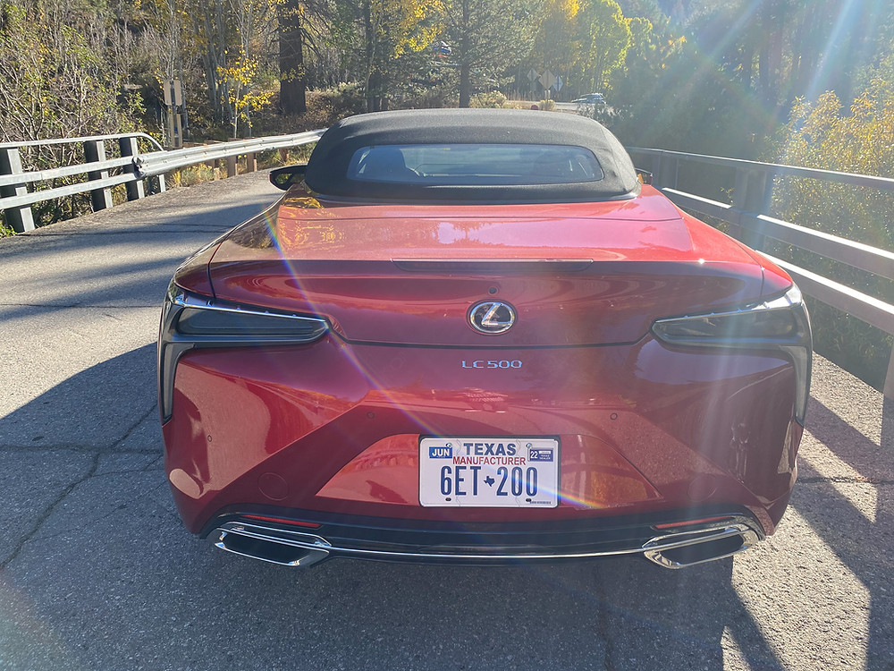 2021 Lexus LC 500 Convertible top up rear view